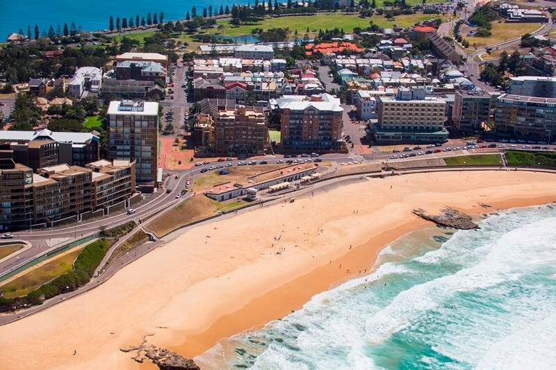 view of the bathers way in Newcastle, Australia