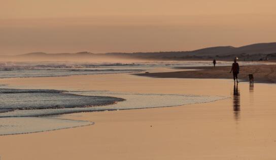 Stockton Beach in Newcastle, Australia