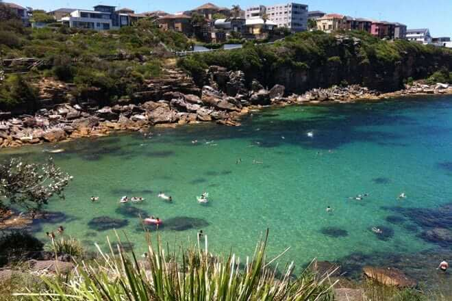 A beautiful view of the Gordons Bay in Sydney